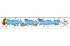 Blue Happy Baby Shower paper banner 2.8 mtr