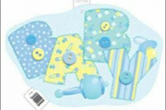Blue baby cutouts double sided