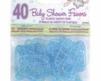 Blue favour safety pins