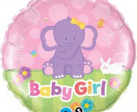 Baby girl 45 cm foil balloon