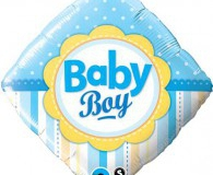 Baby boy square 45 cm foil balloon