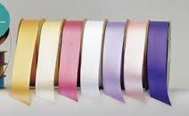 Assorted coloured 25mm x 90 mtrs poly ribbon