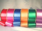 Assorted 25 mm x 90 mtrs coloured poly ribbon