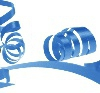 Blue 31 mm poly ribbon