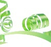 Green 31mm poly ribbon