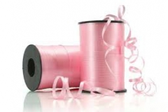 Pale pink 5 mm curling ribbon