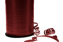 Burgandy or maroon 5 mm curling ribbon