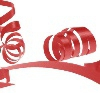 Red 31mm poly ribbon
