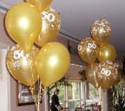 50th Anniversary balloons