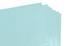 Blue tissue paper