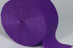 Streamer paper purple pkt 4
