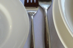 Entree or dessert and main fork