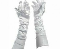 Gangster theme Long white gloves