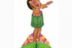 Centrepiece Hula Girl (35cm) Honeycomb Base - Each