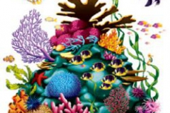 Cutout Prop Coral Reef (160cm x 160cm) 3 Fish Included INSTA-THEME - Each