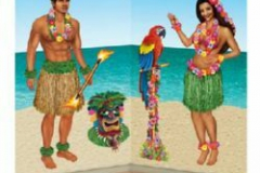 Cutout Prop Hula Girl & Polynesian Guy (52cm - 151cm) INSTA-THEME - Pack of 5