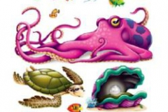 Cutout Props Sea Creatures (12.5cm - 157cm) INSTA-THEME - Pack of 13