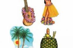 Cutouts Luau Assorted Designs (50cm) Printed 2 Sides - Each