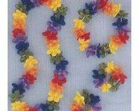Leis Flower 4 Piece Assortment 1 x Leis, 1 x Headband, 2 x Bracelets - Pack of 4