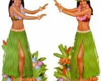 Scene Setter Cutout Hula Dancers (84cm x 162cm) Plastic - Pack of 2