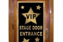 Movie stage door entrance