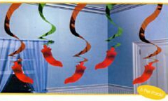 Hanging Decoration Fiesta Swirls (60cm) - Pack of 5