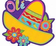 Mexican sombero cutout