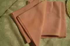 Antique pink dinner napkins