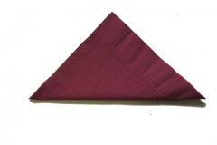 Burgandy or maroon lunch and dinner napkins