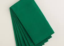 Dark green lunch and dinner napkins