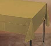 Gold rectangle tablecloth