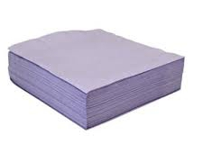 Lavender or lilac coloured napkins