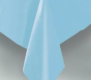 Light blue rectangle tablecloth