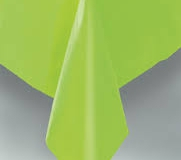 Lime green rectangle tablecloth
