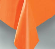 Orange rectangle tablecloth