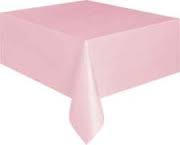 Pale pink rectangle tablecloth
