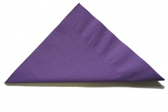 Purple lunch and dinner napkins