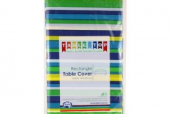 Striped blue green tone rectangle tablecloth