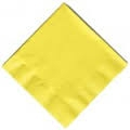 Yellow lunch and dinner napkins