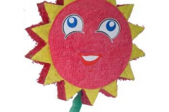 Smilie face flower pinata