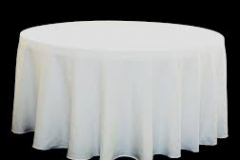 Round tablecloths for hire