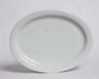 Small white oval platter