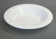 White plastic bowl 130mm and 180mm
